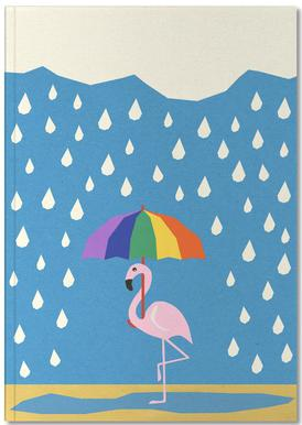 Flamingo de Umbrella Notesbog