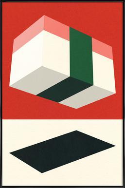 Flying Nigiri Poster im Kunststoffrahmen