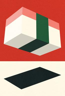 Flying Nigiri Aluminium Print