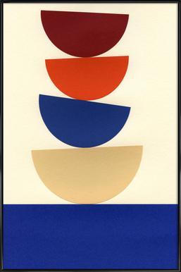 Four Bowls -Bild mit Kunststoffrahmen