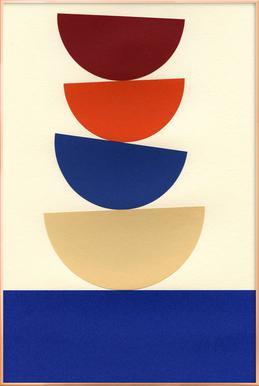 Four Bowls -Poster im Alurahmen