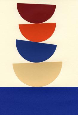Four Bowls Aluminium Print