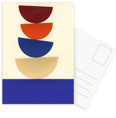 Four Bowls -Postkartenset