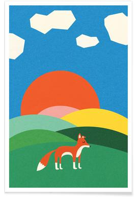 Fox and Field Poster