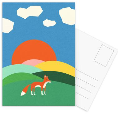 Fox and Field -Postkartenset