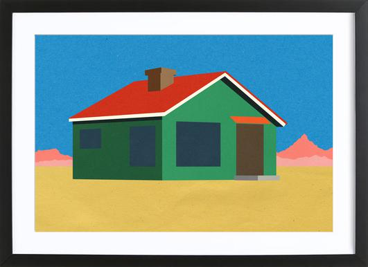 Joshua Tree House Poster in Wooden Frame