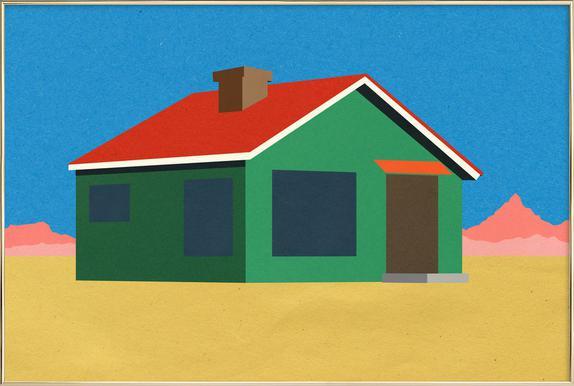 Joshua Tree House Poster im Alurahmen