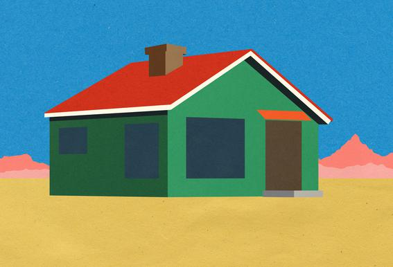 Joshua Tree House Plakat af aluminum