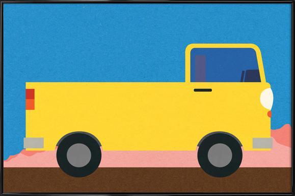 Little Yellow Pickup Truck Plakat i standardramme