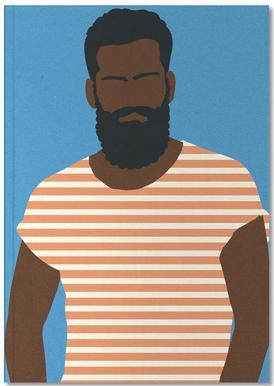 Man with Striped Shirt Notizbuch