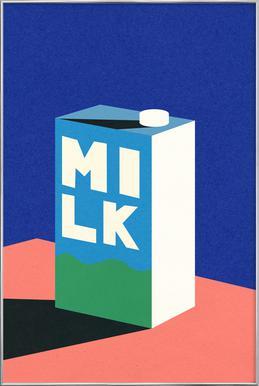 MILK Poster im Alurahmen