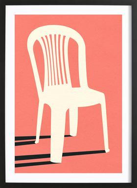 Monobloc Plastic Chair No I Plakat i træramme