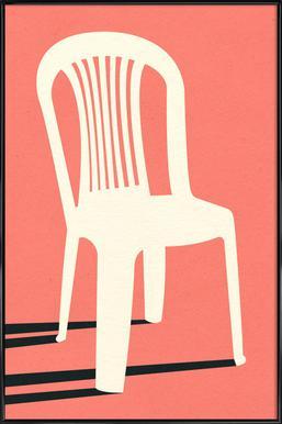 Monobloc Plastic Chair No I Poster im Kunststoffrahmen