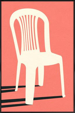Monobloc Plastic Chair No I Poster in Standard Frame