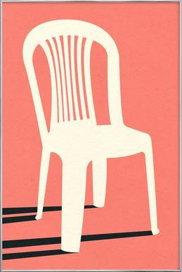 Monobloc Plastic Chair No I Poster in Aluminium Frame
