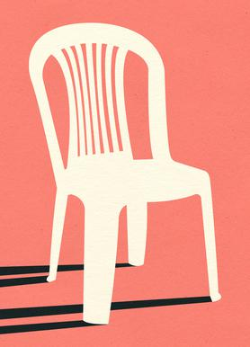 Monobloc Plastic Chair No I Leinwandbild