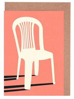 Monobloc Plastic Chair No I Grußkartenset
