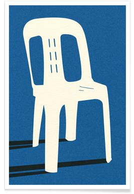 Monobloc Plastic Chair No II Plakat