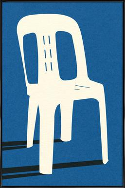 Monobloc Plastic Chair No II Poster in Standard Frame