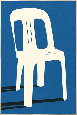 Monobloc Plastic Chair No II Poster im Alurahmen