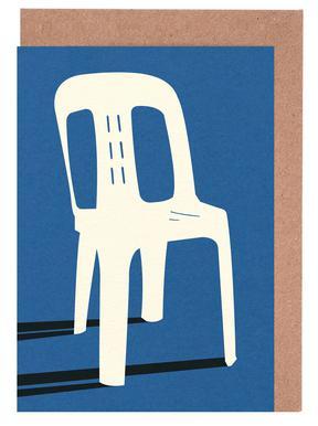 Monobloc Plastic Chair No II Greeting Card Set