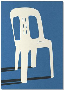 Monobloc Plastic Chair No II Notizbuch