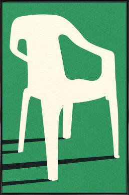 Monobloc Plastic Chair No III Poster im Kunststoffrahmen