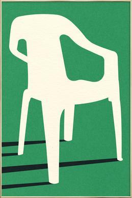 Monobloc Plastic Chair No III -Poster im Alurahmen