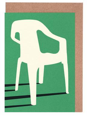 Monobloc Plastic Chair No III -Grußkarten-Set