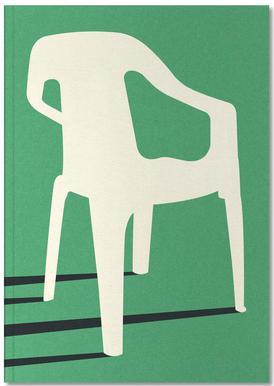 Monobloc Plastic Chair No III Notizbuch