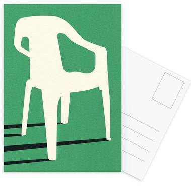 Monobloc Plastic Chair No III Postcard Set