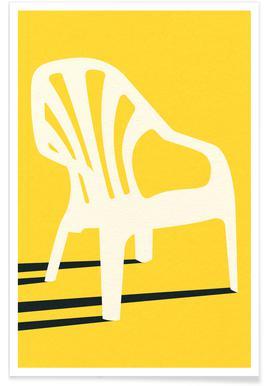 Monobloc Plastic Chair No VI Plakat