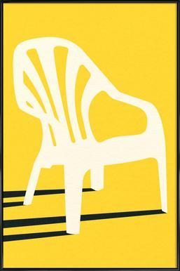 Monobloc Plastic Chair No VI Poster in Standard Frame