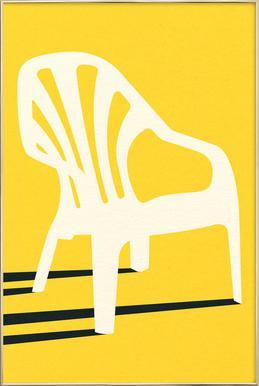Monobloc Plastic Chair No VI -Poster im Alurahmen