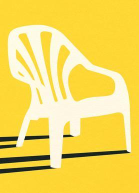 Monobloc Plastic Chair No VI Canvas Print