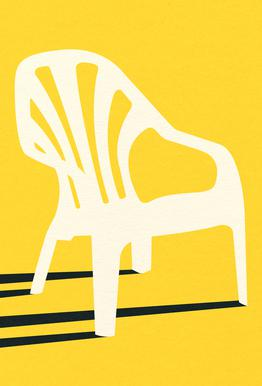Monobloc Plastic Chair No VI Plakat af akrylglas
