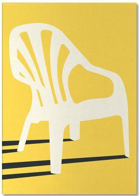 Monobloc Plastic Chair No VI -Notizblock