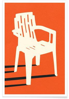 Monobloc Plastic Chair No VII Plakat