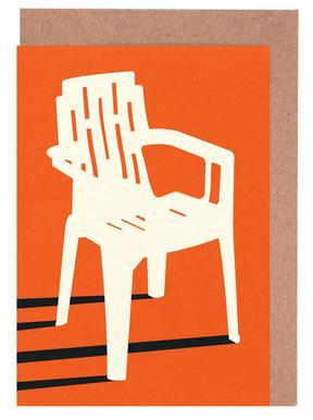 Monobloc Plastic Chair No VII Greeting Card Set