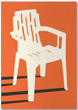 Monobloc Plastic Chair No VII -Notizblock