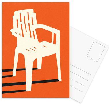 Monobloc Plastic Chair No VII Postkartenset