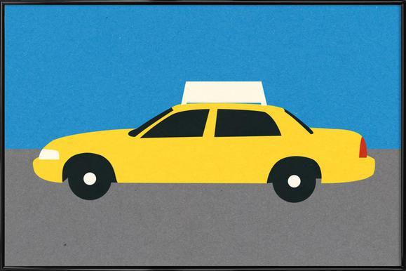 New York TAXI Poster im Kunststoffrahmen