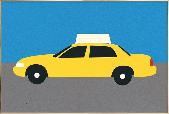 New York TAXI Poster im Alurahmen