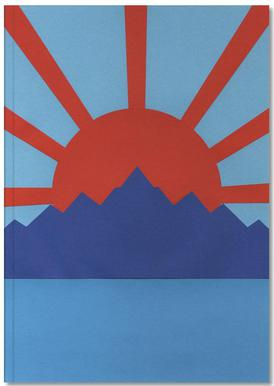 Ocean Moutains Rising Sun Notebook