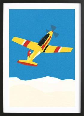 Pilatus PC-7 Solo Display Poster in Wooden Frame