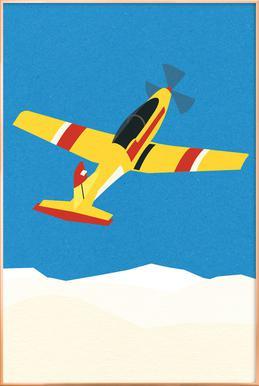 Pilatus PC-7 Solo Display Poster im Alurahmen
