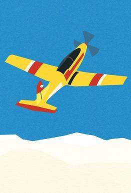 Pilatus PC-7 Solo Display -Alubild