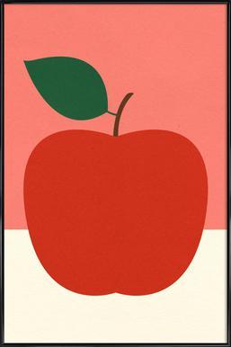 Red Apple affiche encadrée