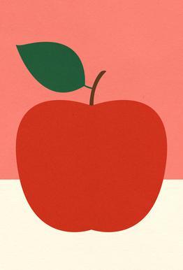 Red Apple -Acrylglasbild