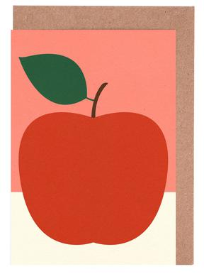 Red Apple Greeting Card Set